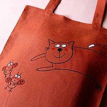 Nákupné tašky - ZRZEK - lněná taška - 4157078_