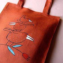 Nákupné tašky - ... A ZASE PYRAMIDKA - lněná taška - 4157106_