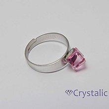 Prstene - Prsten s kostičkou 6 mm SWAROVSKI ® ELEMENTS - 4159125_