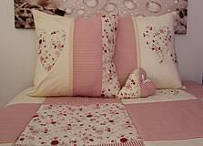 Úžitkový textil - set 2 x vankušik s výplňou  + srdiečko s vôňou levandule - 4159632_