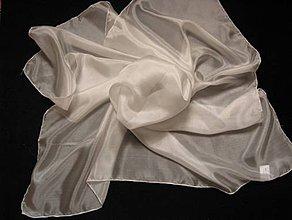 Textil - Hodvábna šatka - 90 x 90 cm - 4161002_