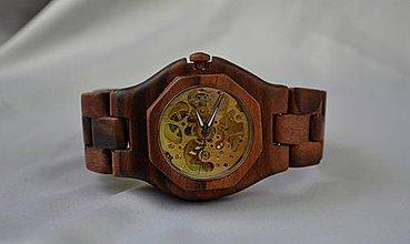 Náramky - Orechová elegancia - Drevené hodinky - 4160519_