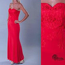 Šaty - Spoločenské šaty rybí chvost s krajkovým korzetom - 4159600_