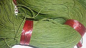 - Voskovaná olivová niť 0,8mm XVII - 4160735_