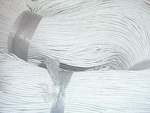 Galantéria - Voskovaná biela niť 0,8mm I - 4159285_