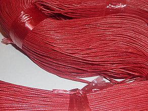 Galantéria - Voskovaná červená niť 0,8mm X - 4159405_