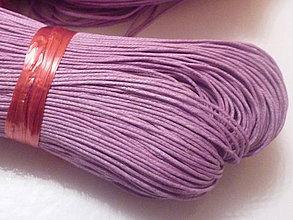 Galantéria - Voskovaná fialová niť 0,8mm XII - 4159438_