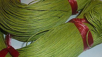 Galantéria - Voskovaná zelená niť 0,8mm XVI - 4160725_