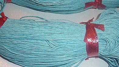 Galantéria - Voskovaná svetlomodrá niť 0,8mm XXI - 4160858_