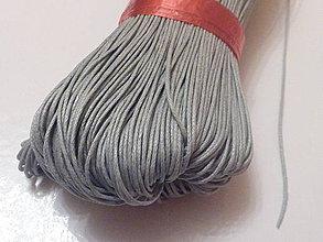 Galantéria - Voskovaná šedá niť 0,8mm XXVI - 4160963_