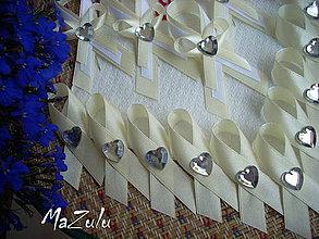 Pierka - svadobné pierka malé so srdiečkom - 4166155_