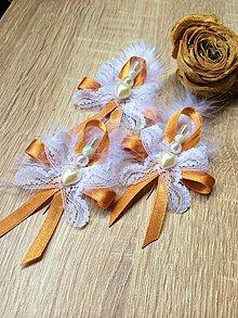 Pierka - Svadobné pierka s vôňou karamelu - 4162468_
