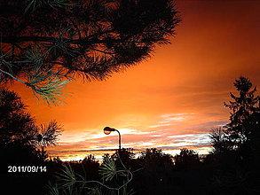 Fotografie - Ohnivá obloha - 4165045_
