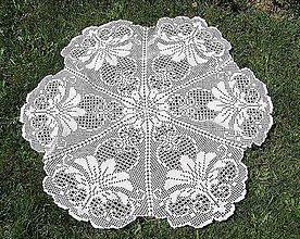 Úžitkový textil - Veľký kruhový obrus - 4169003_