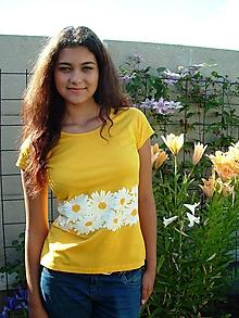 Tričká - Tričko s kvetmi margarétkami - Marguerite I. - 4168758_