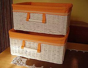 Košíky - Košík oranž - 4168695_