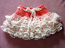 Detské oblečenie - Volánová suknička - 4172728_