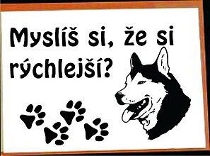 Pre zvieratká - informačná tabuľka na bráničku - 4170950_