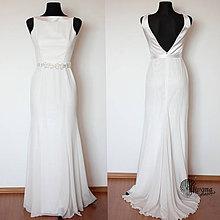 Šaty - Spoločenské šaty rybí chvost šifónové rôzne farby Zlava - 4172607_
