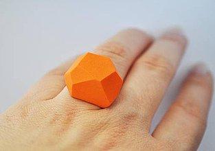 Prstene - Geometrický nastaviteľný prsteň   minimal arch   orange - 4175519_