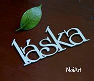 Papier - Papierový nápis LÁSKA - 4176396_