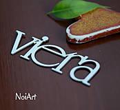 Papier - Papierový nápis VIERA - 4176418_