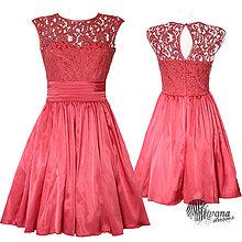 Šaty - Korzetové šaty s krajkou a polkruhovou sukňou v retro štýle - 4175698_