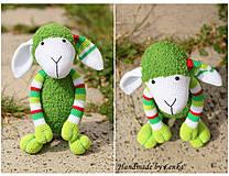 Hračky - zelená ovečka - 4174576_