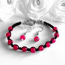 Sady šperkov - Shamballa náramok s náuškami - 4178797_
