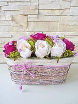 Aranžovanie - košík ruží... - 4179032_