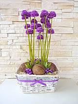 Aranžovanie - košík kvetín... - 4179041_