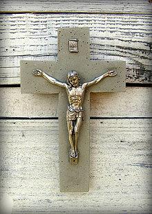 Dekorácie - krížik väčší svadobný - 4179493_