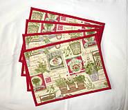 Úžitkový textil - Prestieranie - Bylinkové červené. - 4177150_