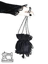 burleskná kabelka čierna s čipkou  0295