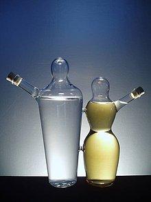 Nádoby - Olej a ocet PÁR nebo láhev na alkohol - 4182418_