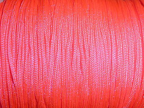 Galantéria - Nylonová šnúrka 1,5mm neónovoružová 32 - 4182128_