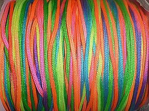 Galantéria - Nylonová šnúrka 1,5mm dúhová 33 - 4182216_