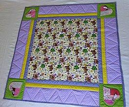 Textil - Deka so srdiečkovými aplikáciami - 4181502_