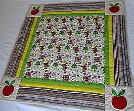 Textil - Deka s jabĺčkovou aplikáciou - 4181551_