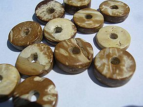 Korálky - DONUTKA KOKOS 1,2cm cena za 10 kusov - 4180757_