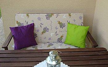 Úžitkový textil - Sedáky na záhradnú lavicu - šili sme na objednávku - 4181259_