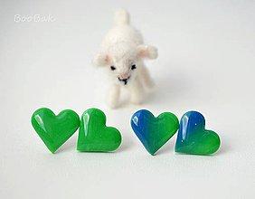 Náušnice - Chlorofylová láska - 4183741_