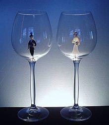 Nádoby - Svatební skleničky - 4182601_