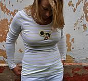 Tričká - Bobeková čipkaňa gombíkopásikvá - 4184818_