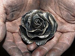 Socha - ... za všetko môže malá čierna ruža ... - 4189209_
