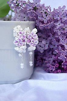 Náušnice - Srdiečkové kvetinky II. - 4186586_
