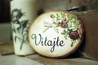 Tabuľky - Vitajte _ ružičky - 4189334_