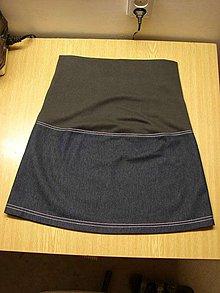 Tehotenské oblečenie - tehotenská sukňa - 4186708_
