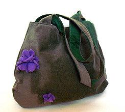Veľké tašky - Saten fleur - veľká taška - 4187875_