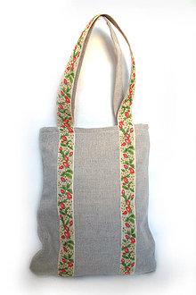 Nákupné tašky - Jahôdka - ekologická nákupná taška - 4188147_